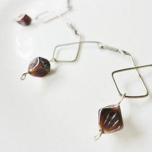Vintage handmade modernist necklace